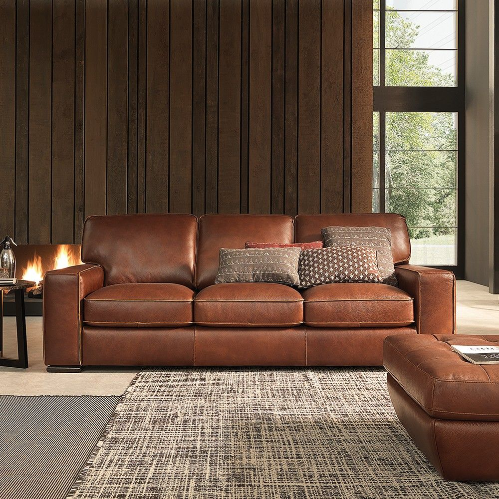 Italian Leather Sofa By Cake: Campbell Sofa #leather