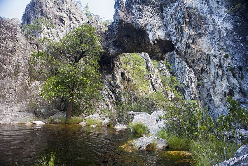 "Waterfall ""Ponte da Pedra"", Cavalcante, Brazil. #chapada #brazil #pontedapedra"