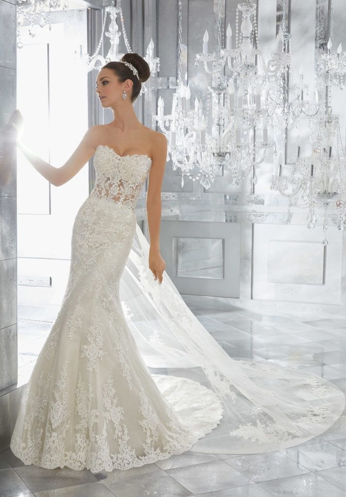 Traditional with a Twist, This Soft Fit and Flare Wedding Dress ...