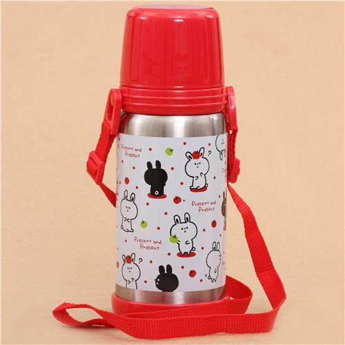 white rabbit apple thermo bottle from Japan Rabbit