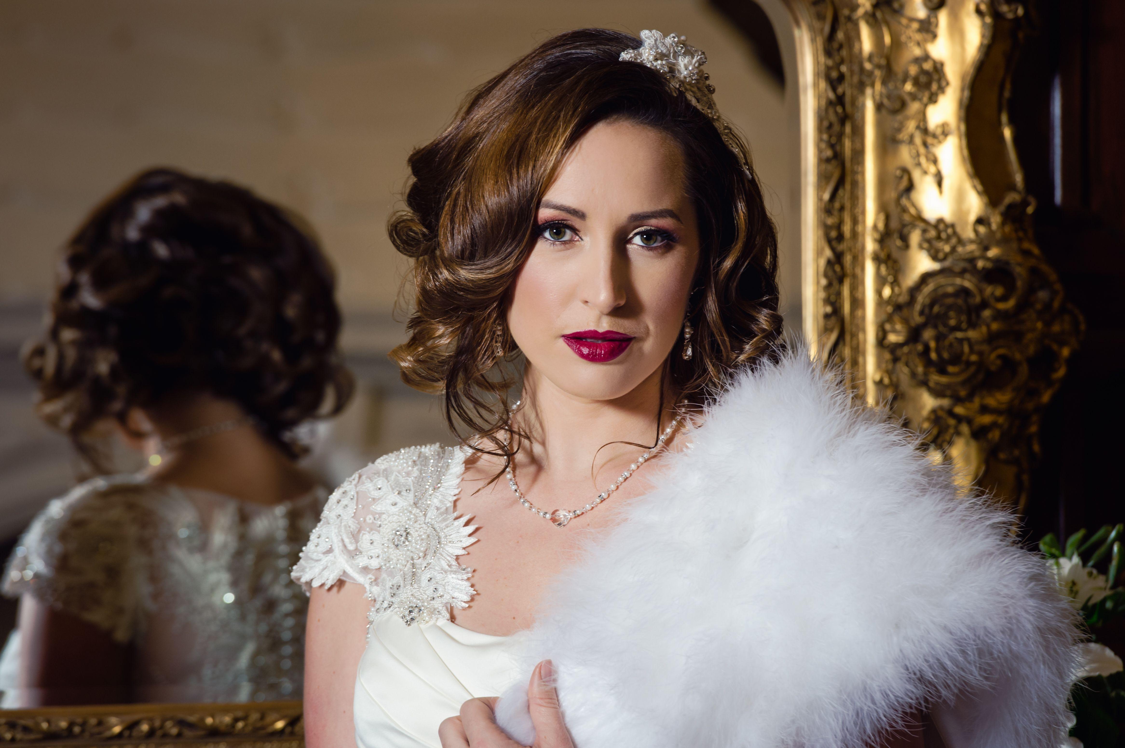 autumn winter bride vintage style downton abbey inspiration. make-up