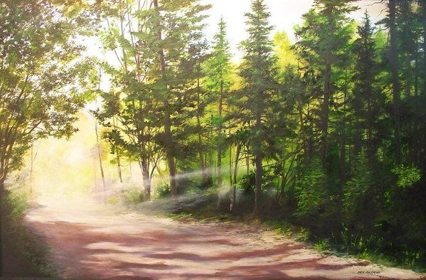 Morning Road Print by Ken Ahlering.  All prints are professionally printed, packaged, and shipped within 3 - 4 business days. Choose from multiple sizes and hundreds of frame and mat options.