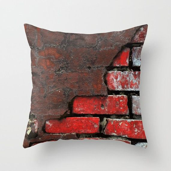 Brick Pillow Cover Brick Throw Pillow City Loft Pillow Dorm