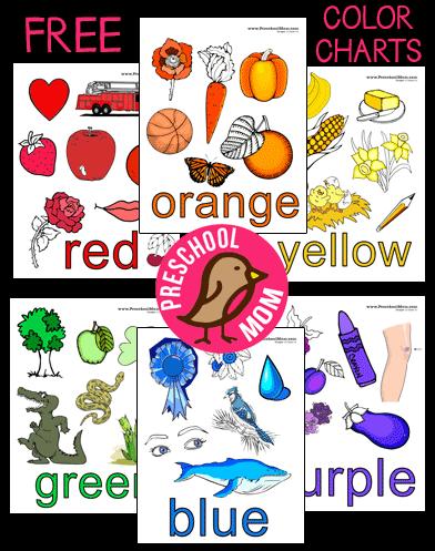 free printables color charts color matching preschool colors classroom charts preschool. Black Bedroom Furniture Sets. Home Design Ideas