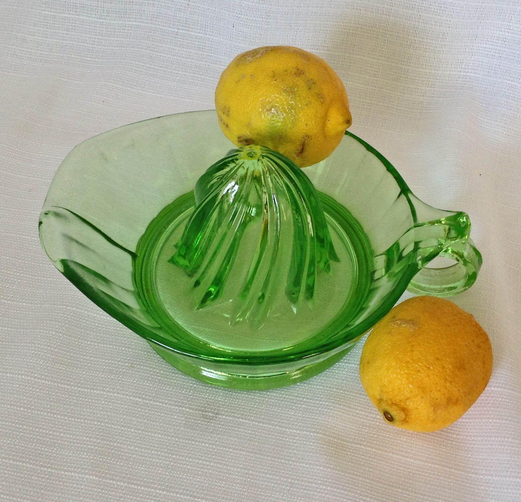 Vaseline Uranium Glass Juicer Reamer