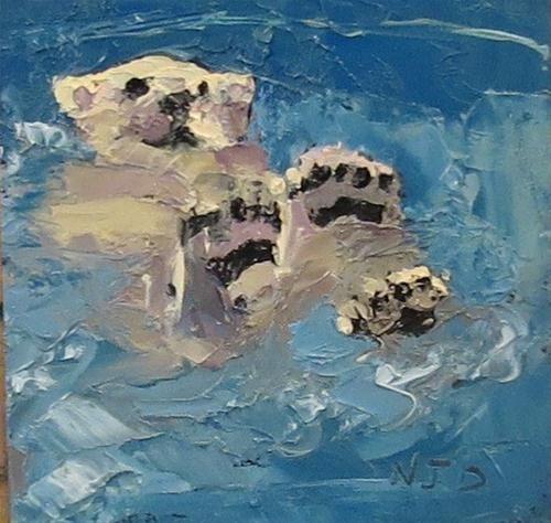 """Sea Bear Play"" - Original Fine Art for Sale - © Nancy Darling"