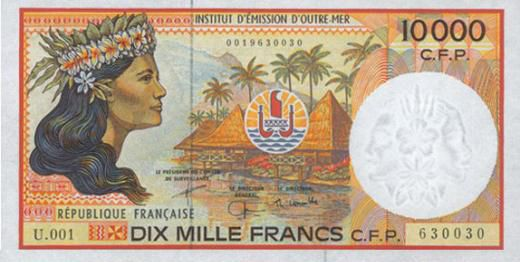 The Currency Of French Polynesia New Caledonia And Wallis Futuna Is Cfp Franc Which Was Introduced In 1945 Typically One Side Banknote