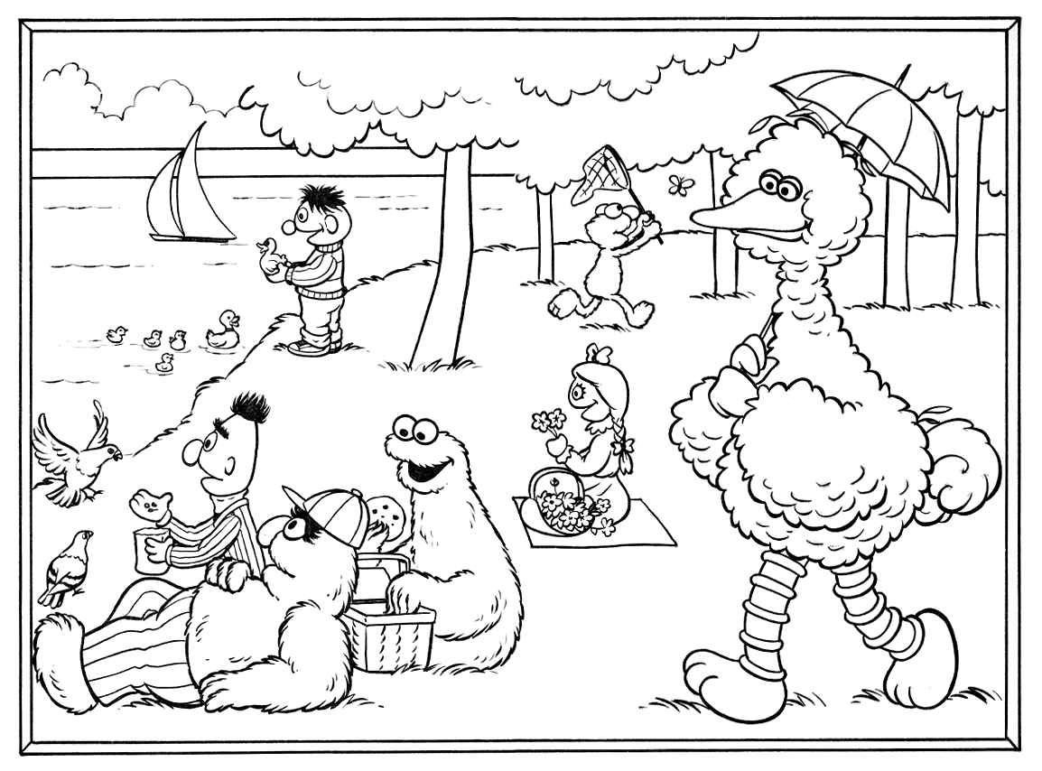 Seurat seurat, Baby coloring pages