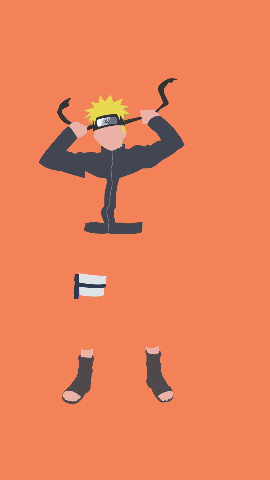 Naruto Uzumaki Minimalist Wallpaper With Images Iphone 6