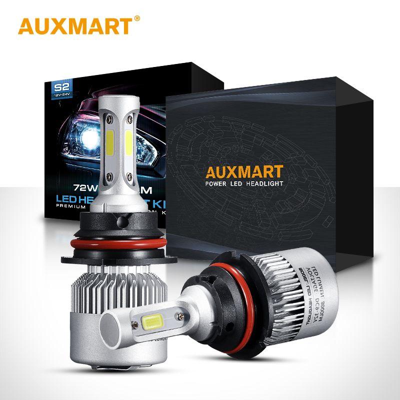 Auxmart S2 H4 H7 H13 H11 H1 9005 9006 H3 9004 9007 9012 Cob Led