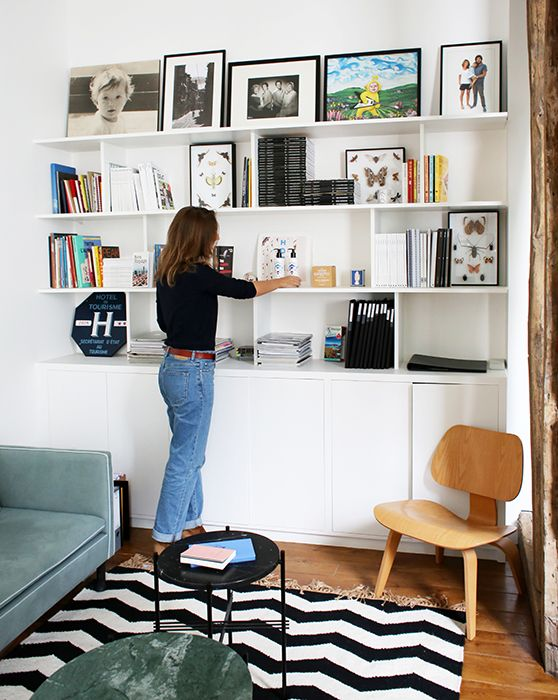 Julie paris 10 me inside closet chez dallas pr by chlo negre pinterest biblioth que - Bibliotheque sur mesure ikea ...