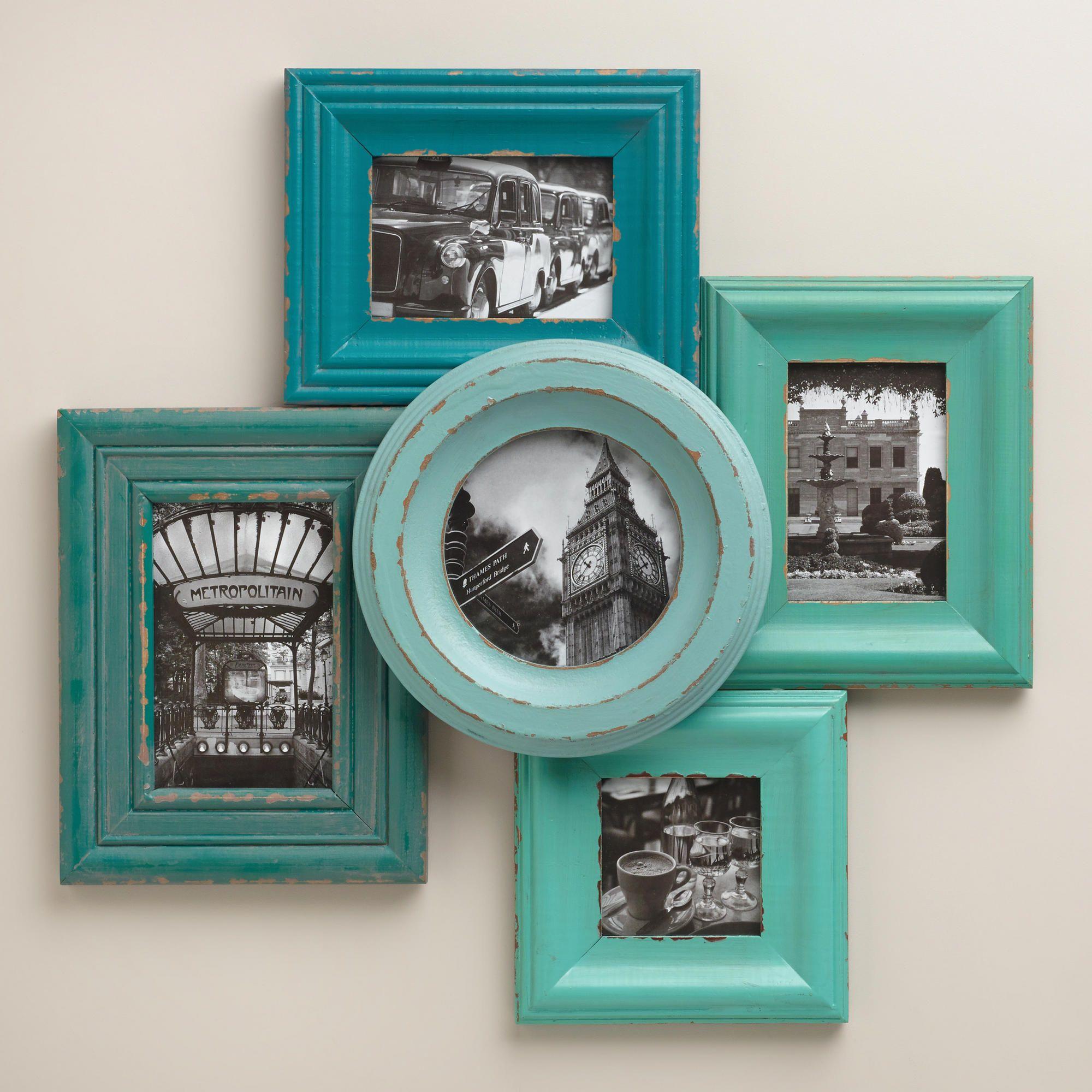 Blue and aqua morgan frames set of from world market dream