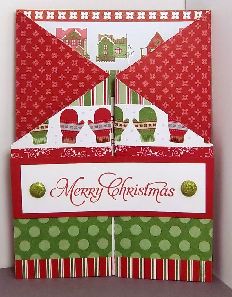 Double Gate Fold Card Gatefold Cards Folded Christmas Cards Christmas Cards Handmade