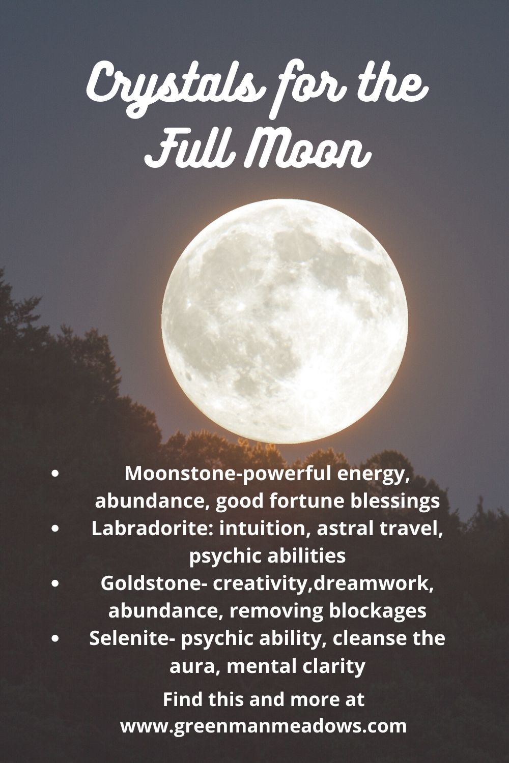Full Moon Crystals. Wicca Witchcraft for beginners in 2020
