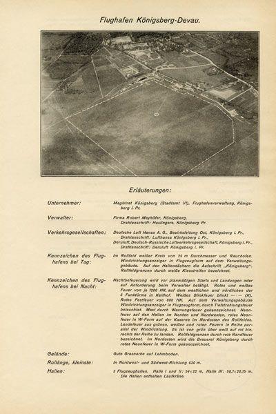 Luftbild Flugplatz Königsberg Devau