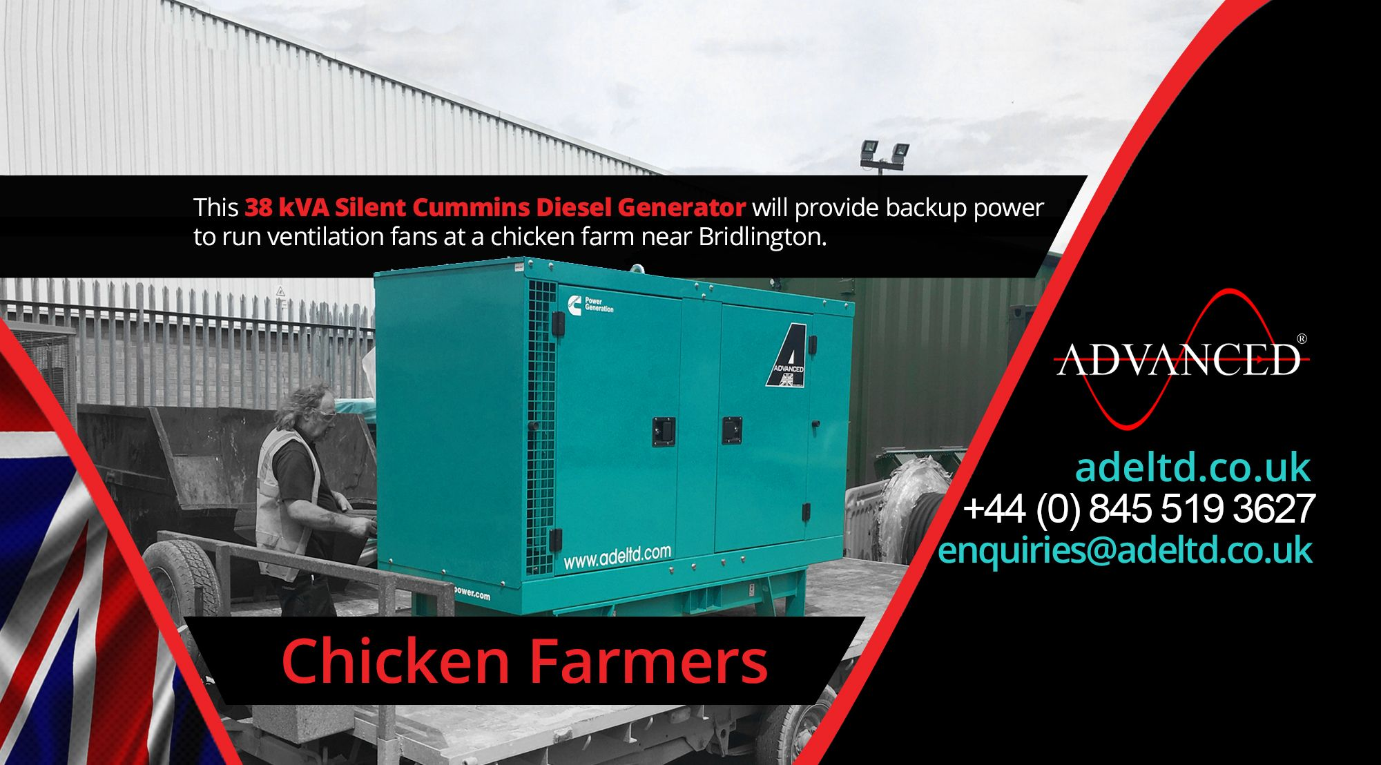 This 38 kVA silent Cummins Diesel Generator will provide backup