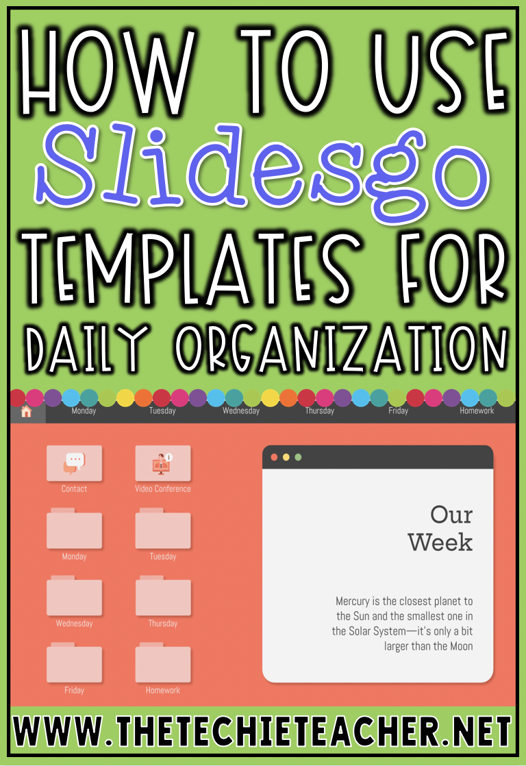 How to Use Slidesgo Templates for Daily Organization-FREE templates for Google Slides  PowerPoint | The Techie Teacher®