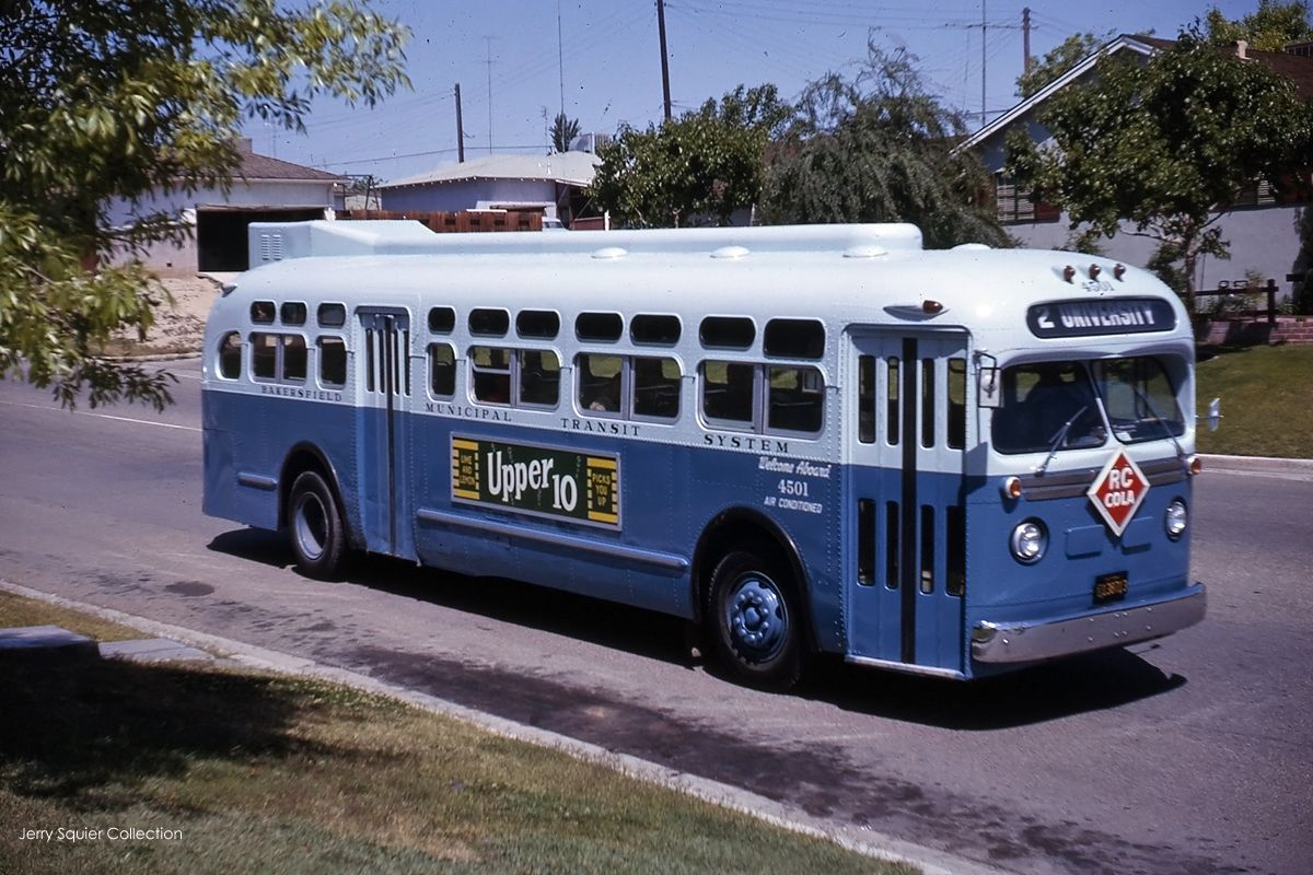 Bakersfield Municipal Transit System Old Look GMC
