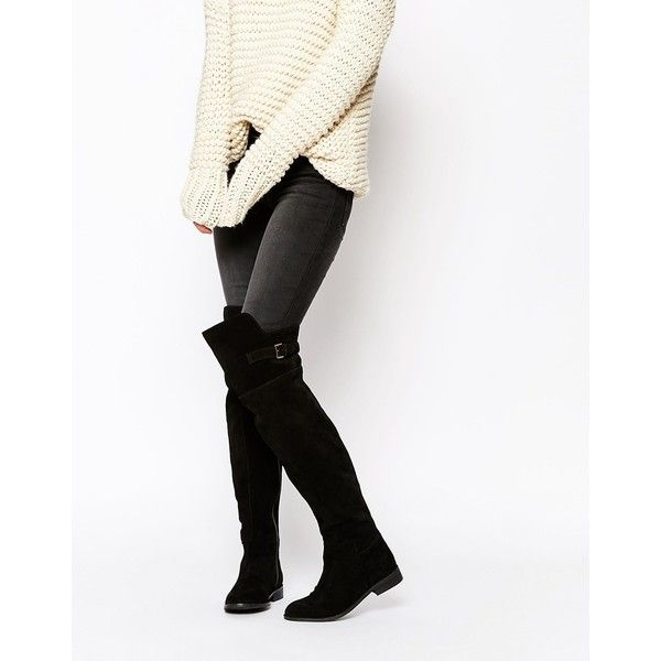 ASOS KOWTOW Wide Fit Leather Over The Knee Boots 8 ? liked on Polyvore  featuring shoes