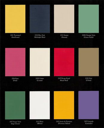 Colours de Provence, French Country Shabby Chic Colours, 100% Acrylic Water-Based, Low Luster Satin Finish