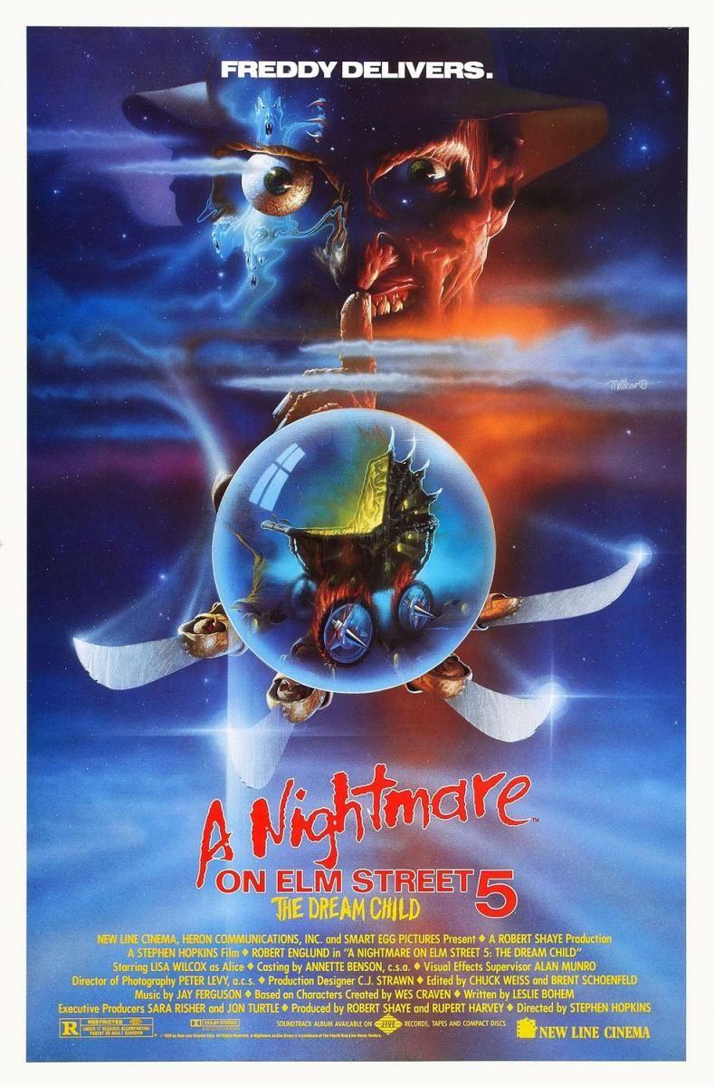 Pesadilla En Elm Street 5 El Niño De Los Sueños 1989 A Nightmare On Elm Street Nightmare On Elm Street Horror Movie Posters