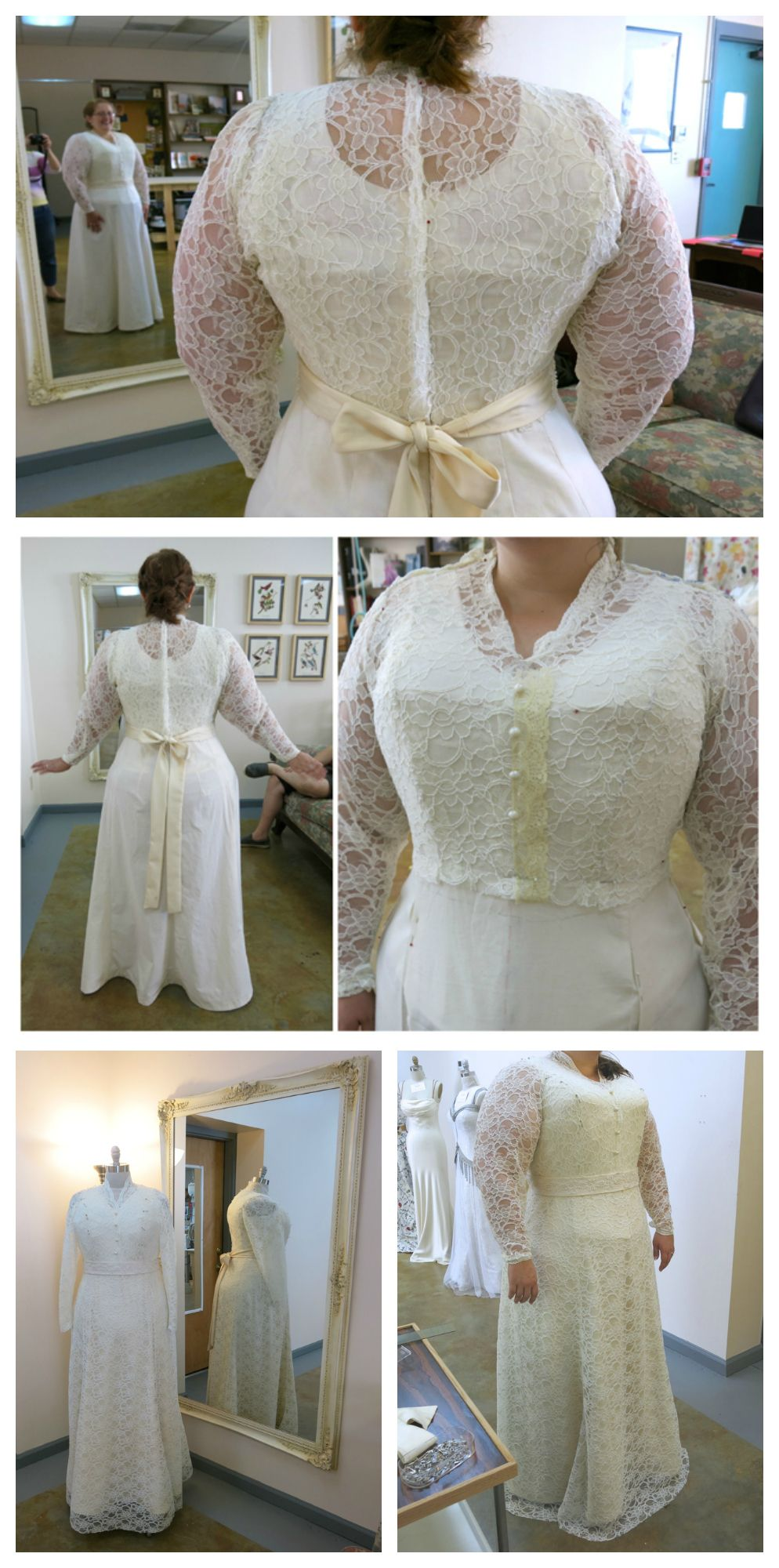 Mockup And Basted Fittings For Caitlins Custom Wedding Dress By Brooks Ann Camper Bridal Couture