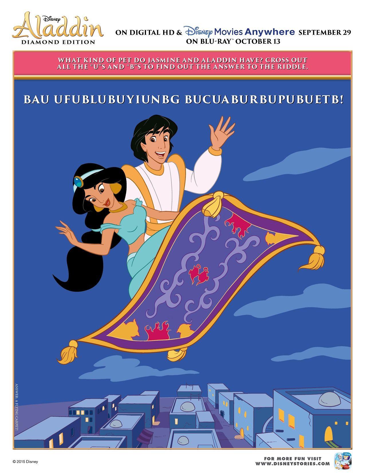 Free Printable Disney Aladdin Activity Sheets Diamond Edition Aladdin Disney Aladdin Activity Sheets