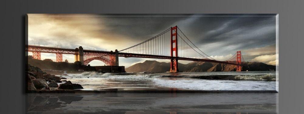 15 Inspirations Golden Gate Bridge Canvas Wall Art Wall Art Ideas