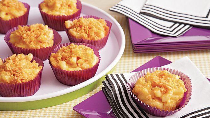 Treat your guests with these tasty mac and cheese bites – perfect to be served as appetizers, snacks or lunch.