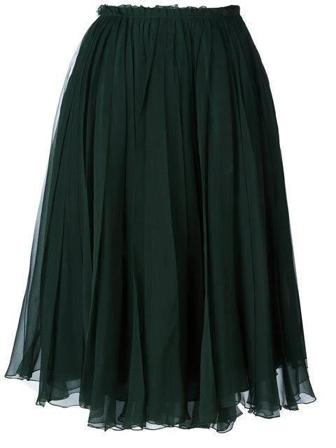 f7257506eb ROCHAS Tulle Pleated Skirt. #rochas #cloth #skirt | Rochas | Pleated ...