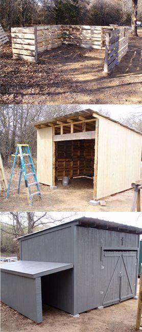 DIY Pallet Shed Plans Casetta di legno, Casa sull'albero