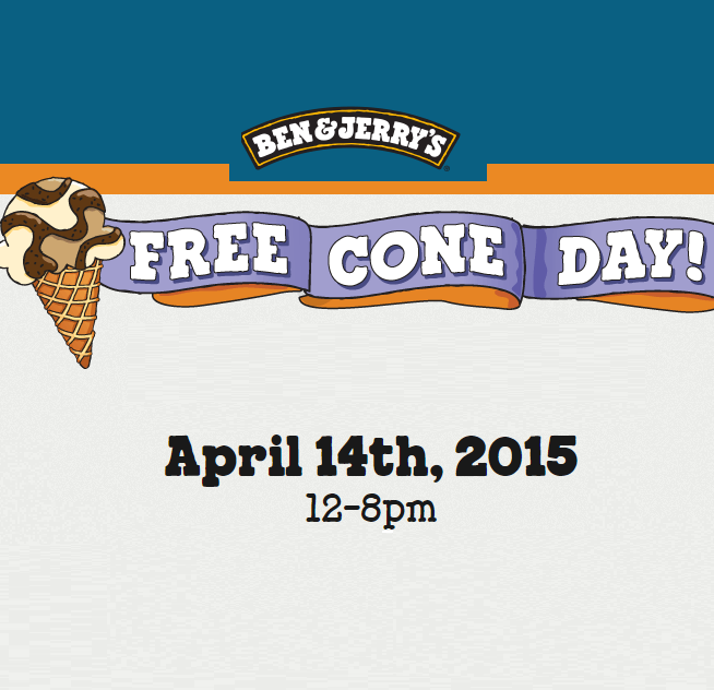 FREE Cone Day At Ben & Jerrys - Gratisfaction UK Freebies #freebies #freestuff #coneday