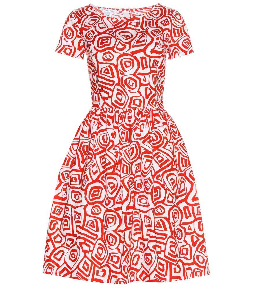 Oscar de la Renta - Printed cotton dress - Oscar de la Renta merges ...
