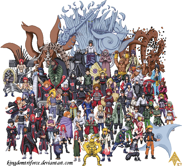 Ultimate Shippuden SpriteGroup by KingdomTriforce