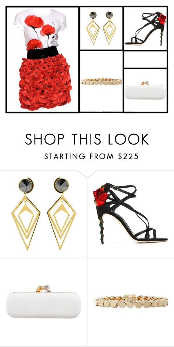 """""""Outfit # 3037"""" by miriam83 ❤ liked on Polyvore featuring Blugirl, Sarah Magid, Dolce&Gabbana, Alexander McQueen and Eddie Borgo"""