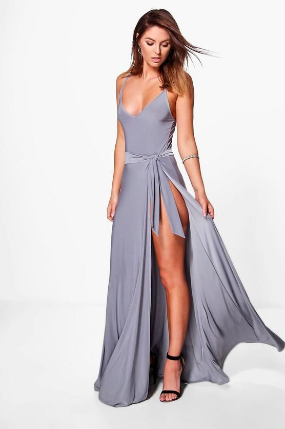 d80932b01c1e0 Slinky Body And Tie Maxi Skirt Co-Ord   Dresses   Skirt co ord, Co ...