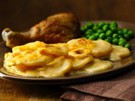 gratin potatoes so simply delicious and quick we swapped three cheese ...