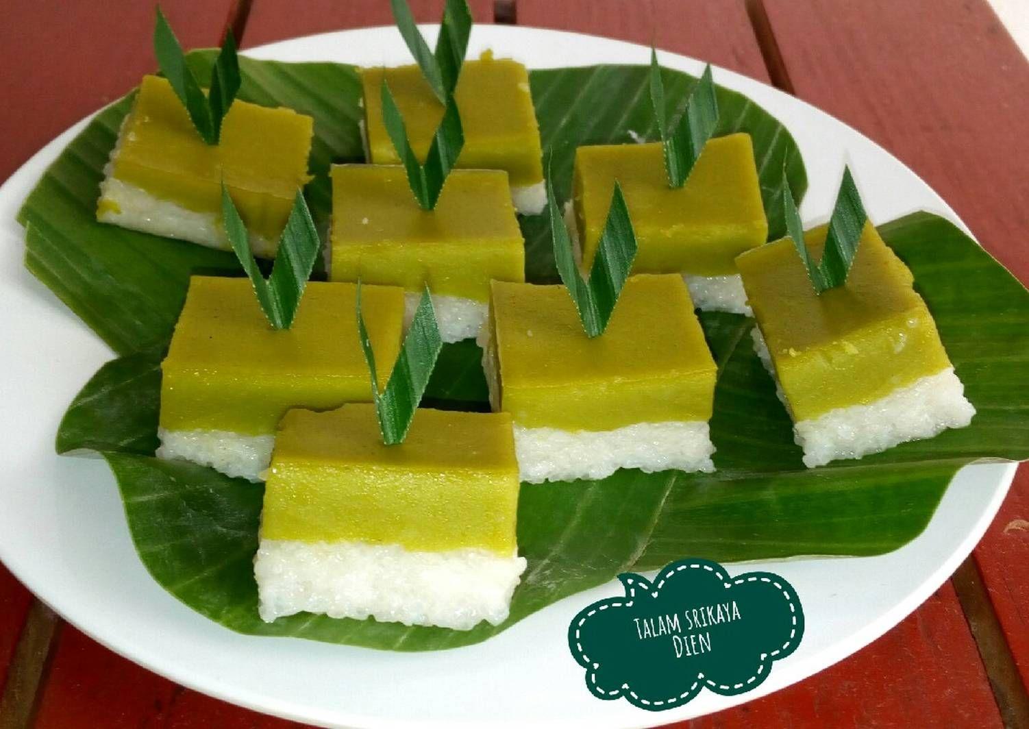 Resep Talam Srikaya Pandan Oleh Dapur Dien Resep Makanan Resep Resep Kue