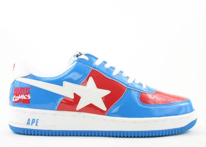 39124168 Bapesta FS-001 Low Finish ''Marvel Comics: Captain America'' | SHOEZ ...