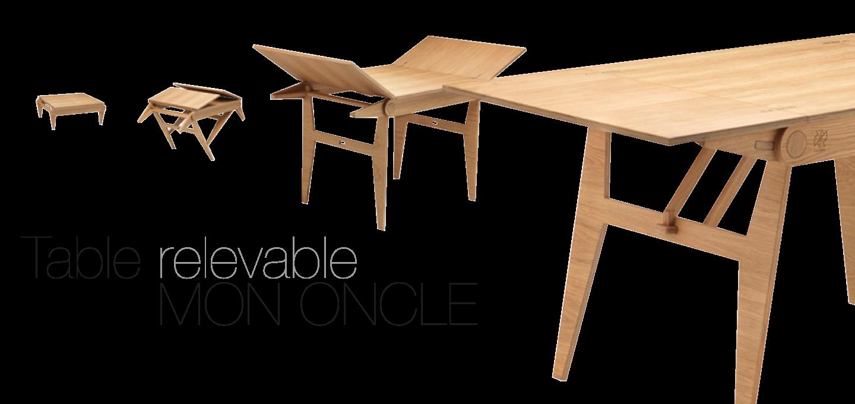 Mon Relevable Éco OncleTable Design ÉcodesignEco conçueAgence ARLc5Sj34q