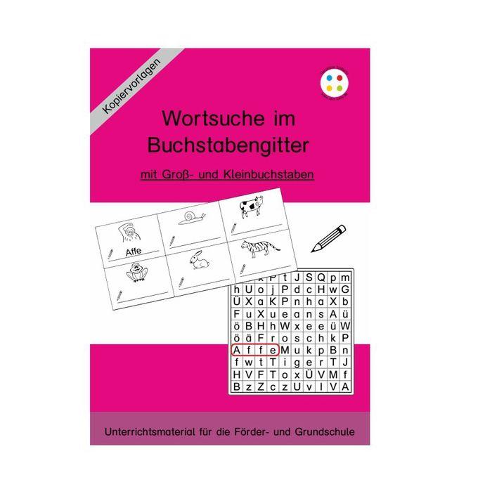 Wortsuche im Buchstabengitter - Klein- und Großbuchstaben | Pinterest