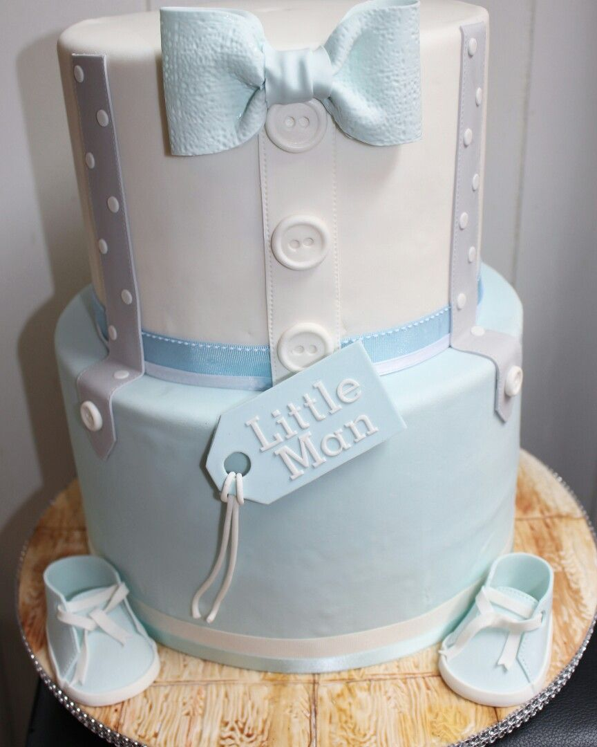 Boys Baby Shower Cake: Little Man Baby Shower Cake