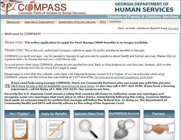 Ga Compass Renew My Benefits For The Food Stamp Food Lifestyle