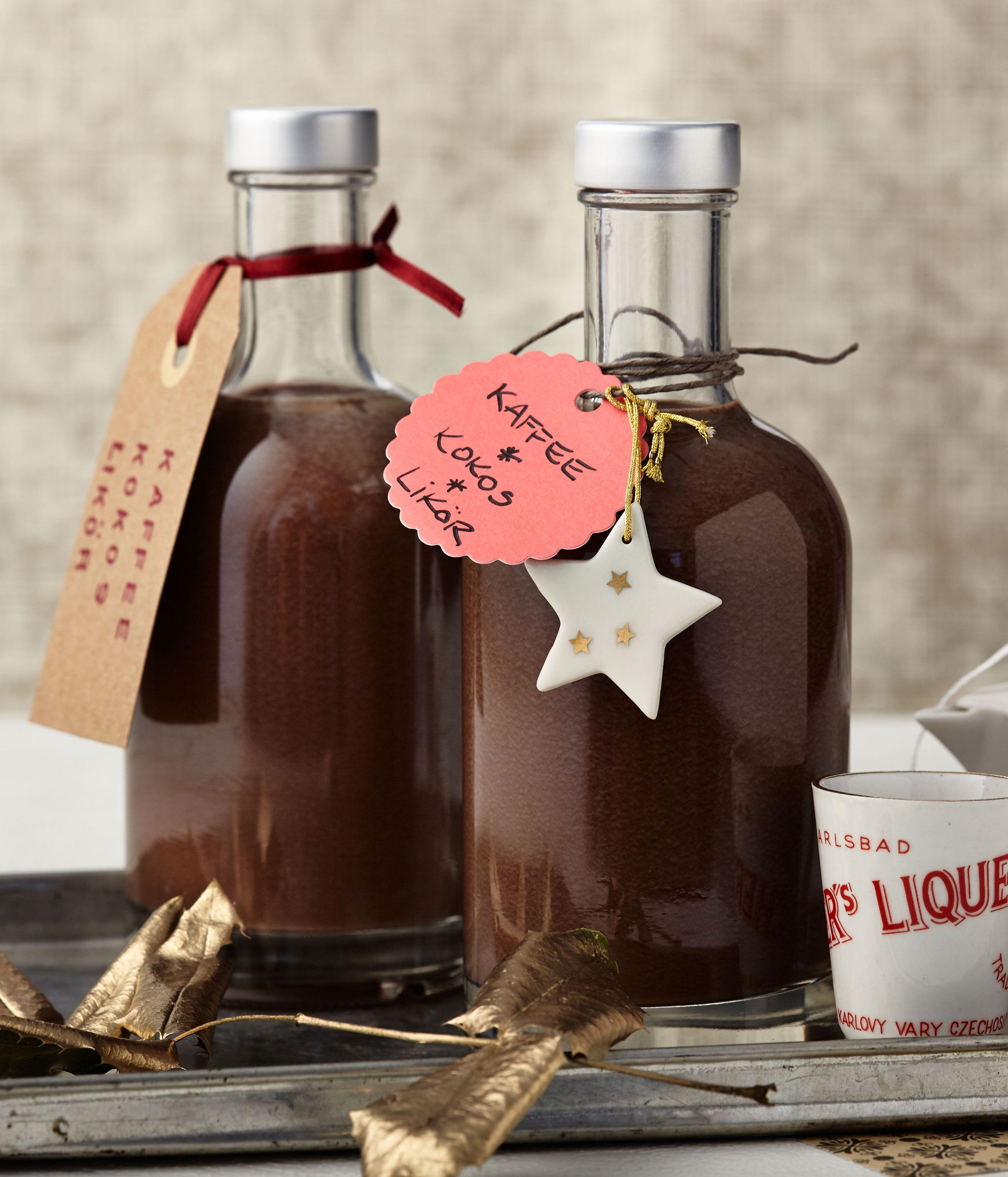 Schneller Kaffee-Kokos-Likör   Rezept   Liköre, Getränke und Sirup