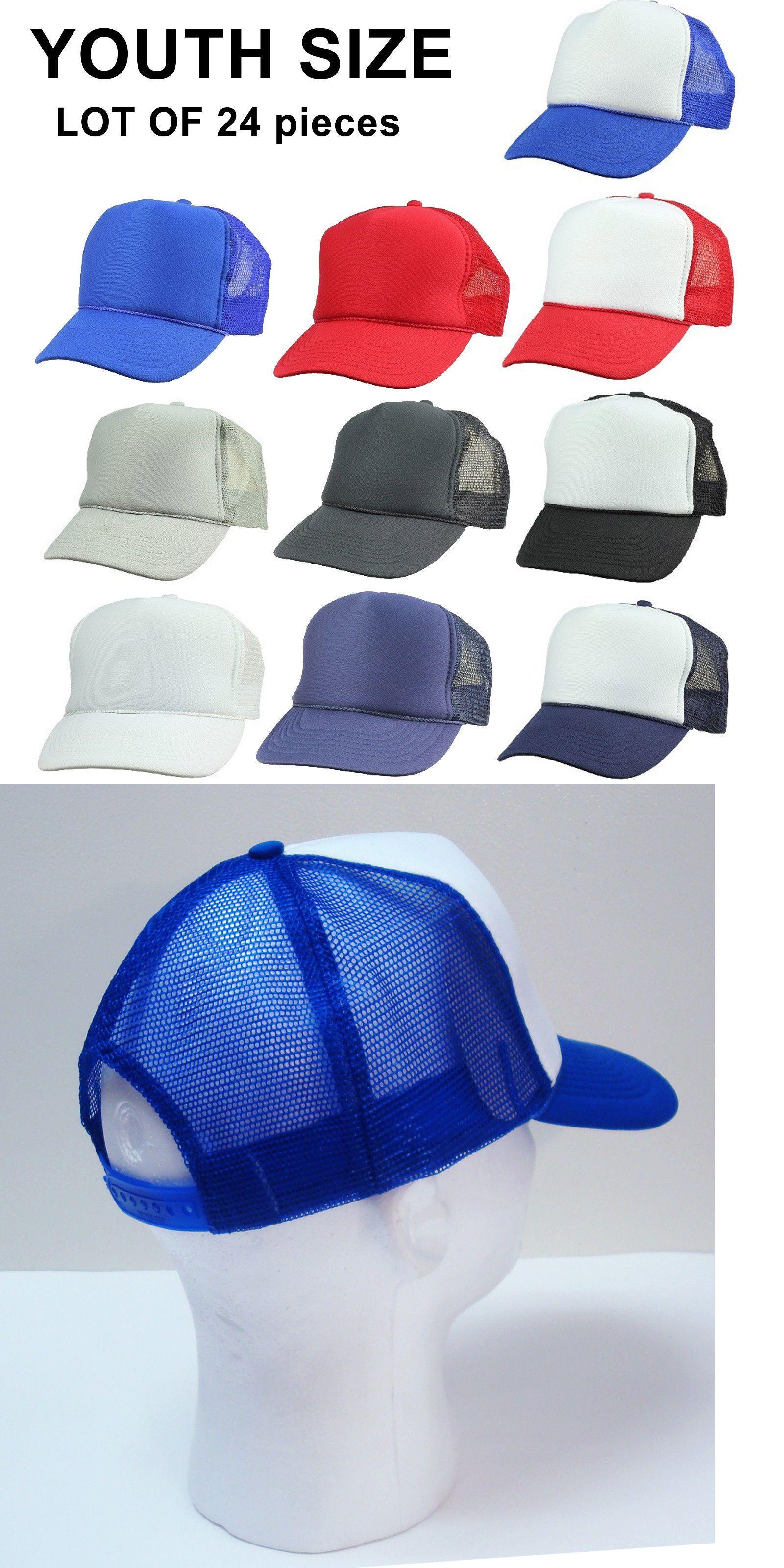 Mens Accessories 45053  Youth Size ~ 24 Trucker Hats Wholesale Bulk Lot 2  Dozen Mesh Caps ~ Child Kids -  BUY IT NOW ONLY   70 on eBay! dd38e3bbc28