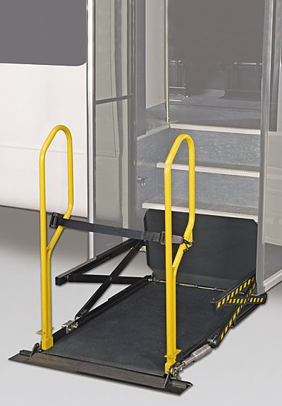 "The Braun UVL, or ""Under Vehicle Lift,"" has emerged as the premier commercial wheelchair lift series for those seeking ADA compliance along with maximum ambulatory seating. Offered as an alternative to platform-style lifts, the UVL retracts into a weather-tight enclosure and remains out of your way until needed."