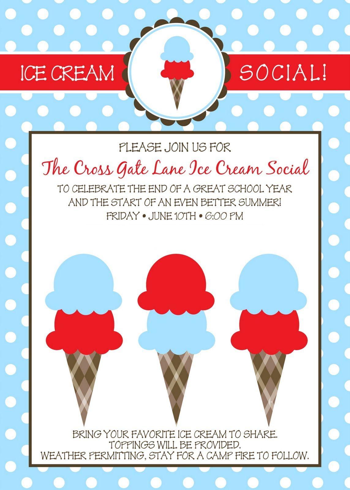 Dorable Ice Cream Party Invite Motif - Resume Ideas - megansmission.info