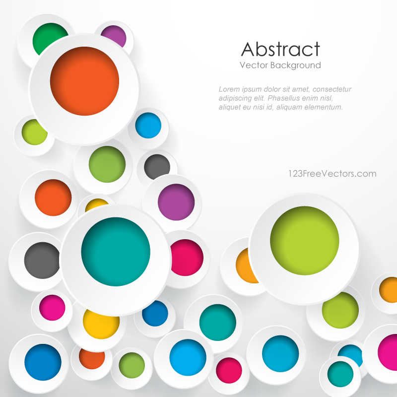 Colorful Geometric Circle Designs Background Image Круги