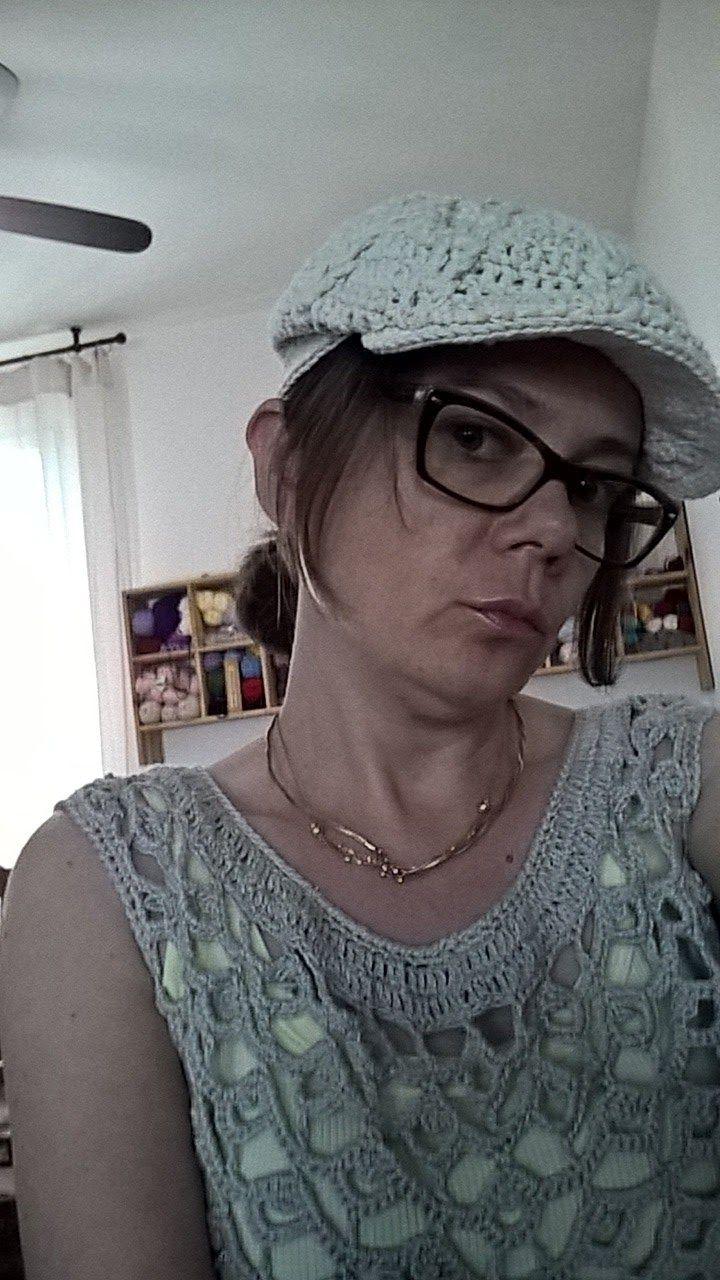 oanacrochet: Crochet sicilian cap coppola siciliana