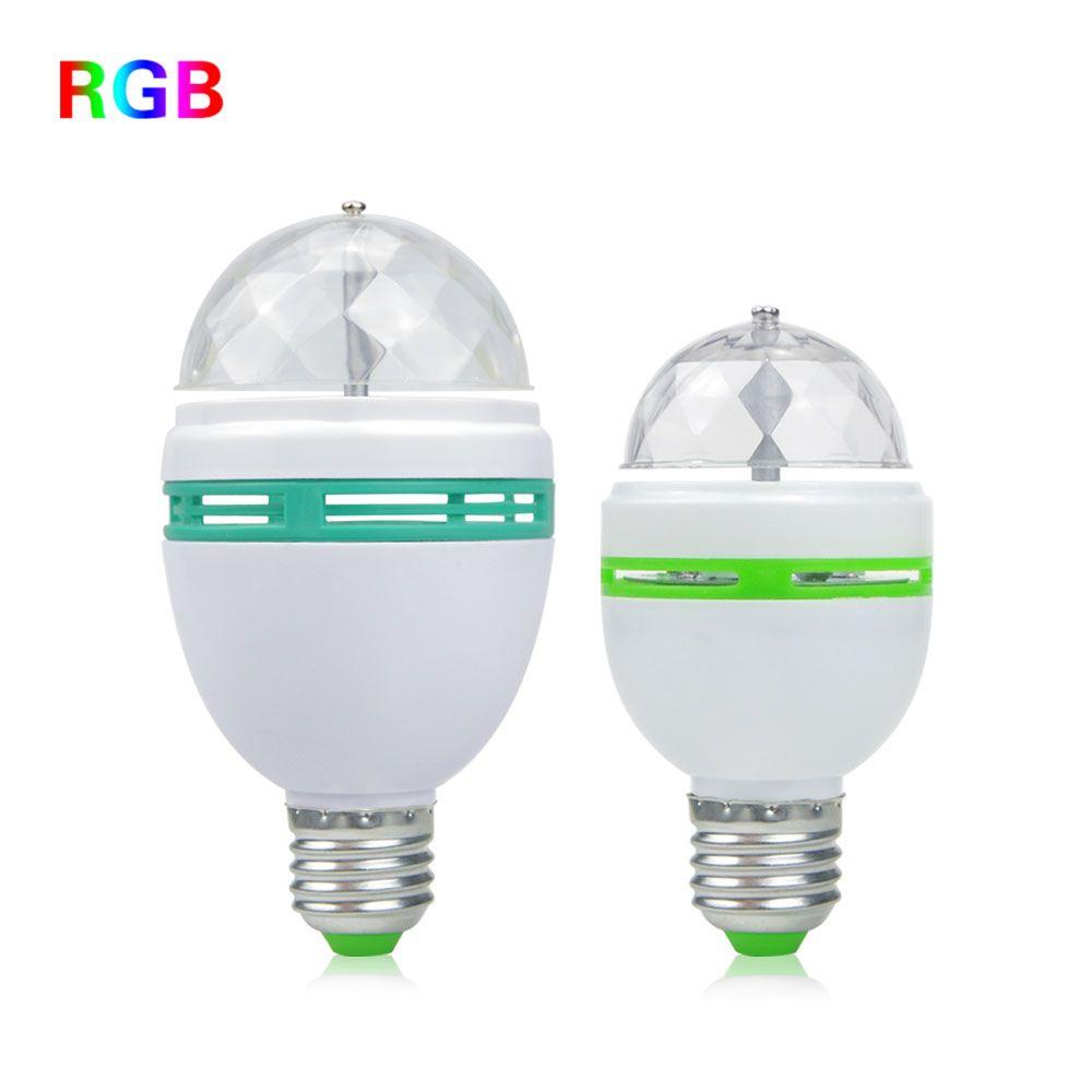 Mini e27 3 w 6 w ac 100-240 v rgb led crystal magic ball Stage ...